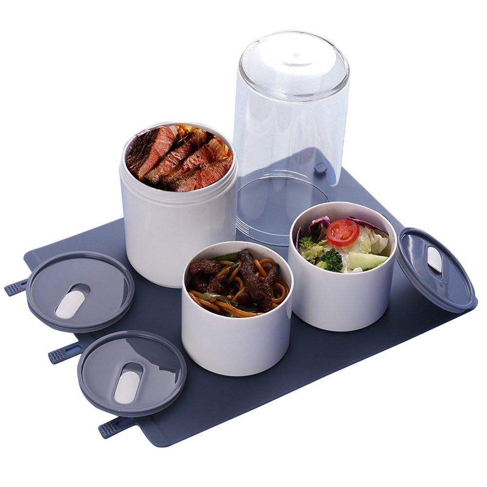 Porta pranzo bento, lunch box multifunzionale, conveniente da trasportare e microonde disponibile, Rosa Harrms KL160203/FenSe@#HRS