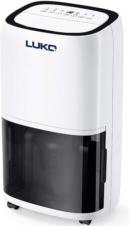 LUKO 16L Deshumidificador Portátil Electrico con Control Humedad y ...
