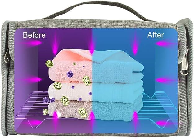 Vestiti All-Purpose Sterilizzatore UV Borsa Professionale per Disinfezione Borsa Compatta per Disinfezione per Telefoni Cellulari Uccide Il 99,9/% di Virus E Batteri da Germi con 24 Luci A LED