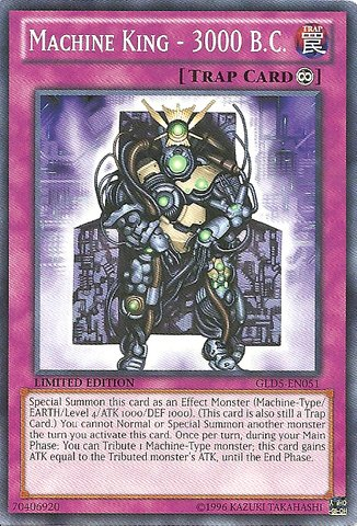 Yu-Gi-Oh! - Machine King - 3000 B.C. (GLD5-EN051) - Gold Series: Haunted Mine - Limited Edition - Common