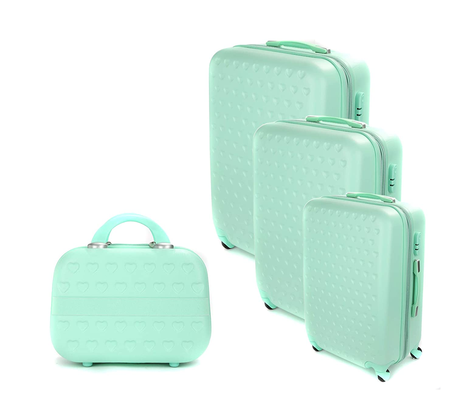 9cdd6c0efe531 Troley Travel Bag by Morano 6690-3Pcs with Beauty Case - Green  Amazon.ae   AinalrabeeG