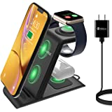 HATALKIN 3 in 1 Wireless Charging Station Compatible with Apple Products Multiple Devices Apple Watch SE 6 5 4 3 2…