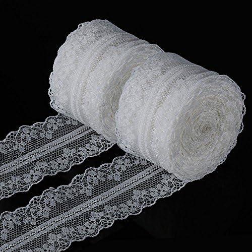 Craft lija banda encaje frontera encaje banda yulakes 10/meter borde Vintage Lace 5,5/cm de ancho frontera de encaje banda Decora crema