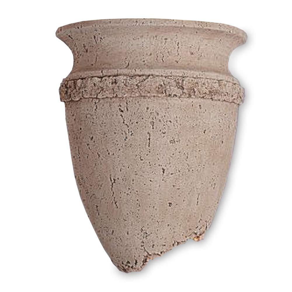 Wandleuchte in antiker Form mit abgebrochener Ecke   Wandlampe Wandlampe Wandlampe in Steinoptik   Mediterran Wandleuchte mit Lichtaustritt oben und unten 9409b2