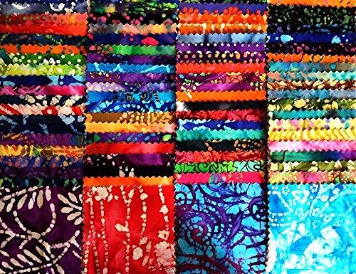 Assorted BATIK squares cotton fabric product image