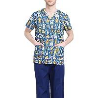 Jiyaru Uniforme Médico Ropa Enfermera de Manga Corta