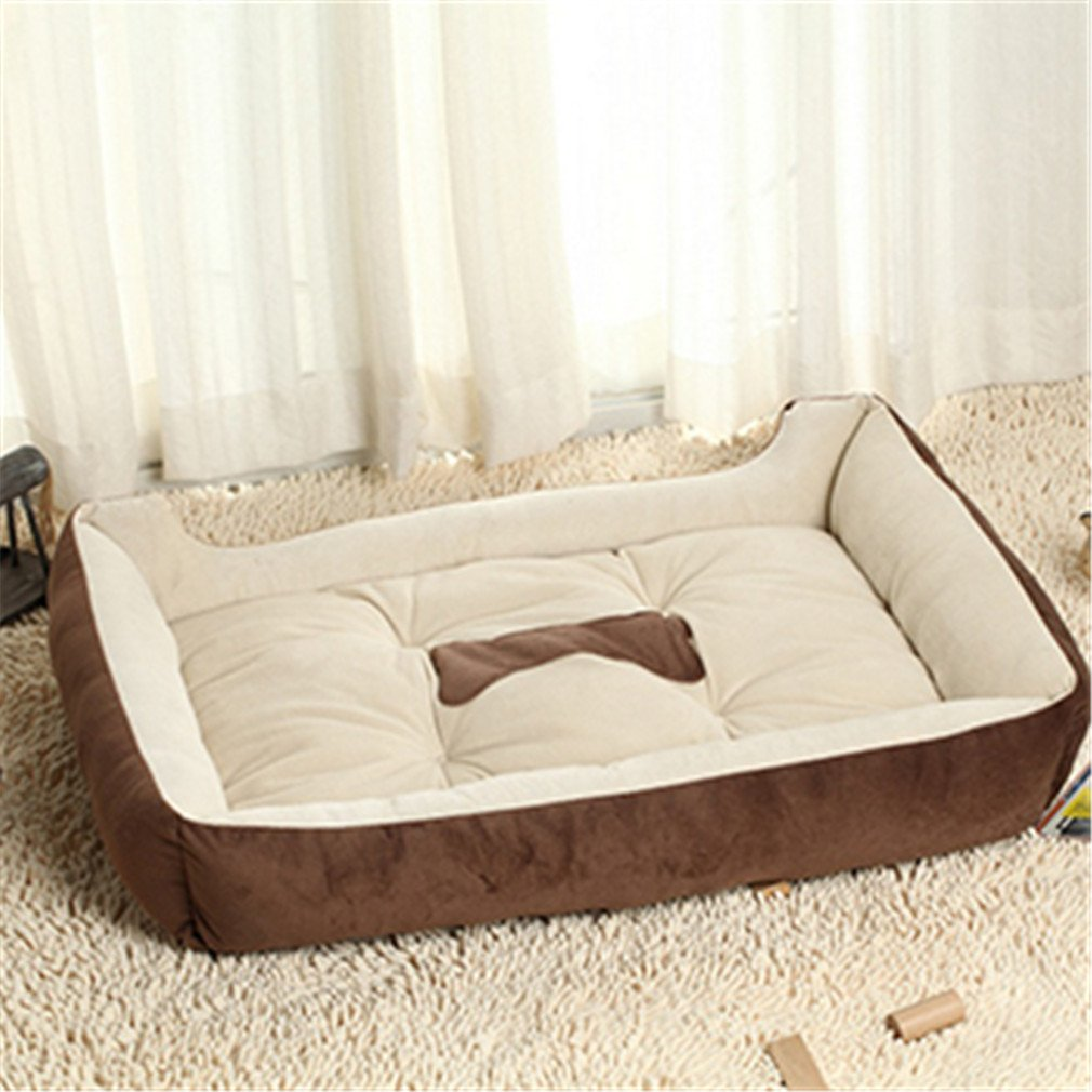 Amazon.com : Pet Dog Bed Soft Material Pet Dog Fall And Winter Warm Nest Kennel For Cat Warming Dog House Puppy Plus Size Brown XXL 80x60cm : Pet Supplies
