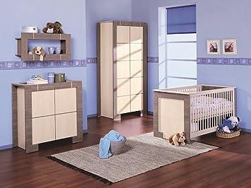 Babyzimmer Kinderzimmer New Generation Eiche Grau Creme Babymobel