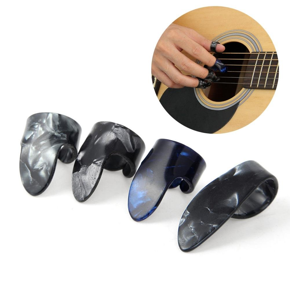 Arvin87Lyly Finger Plektren plektrum Daumen Plektrum Gitarre Gitarre Fingerschutz Daumenpick Daumen Picks Celluloid Shell Kit für akustische Gitarre Starter & andere Saiten Instrument