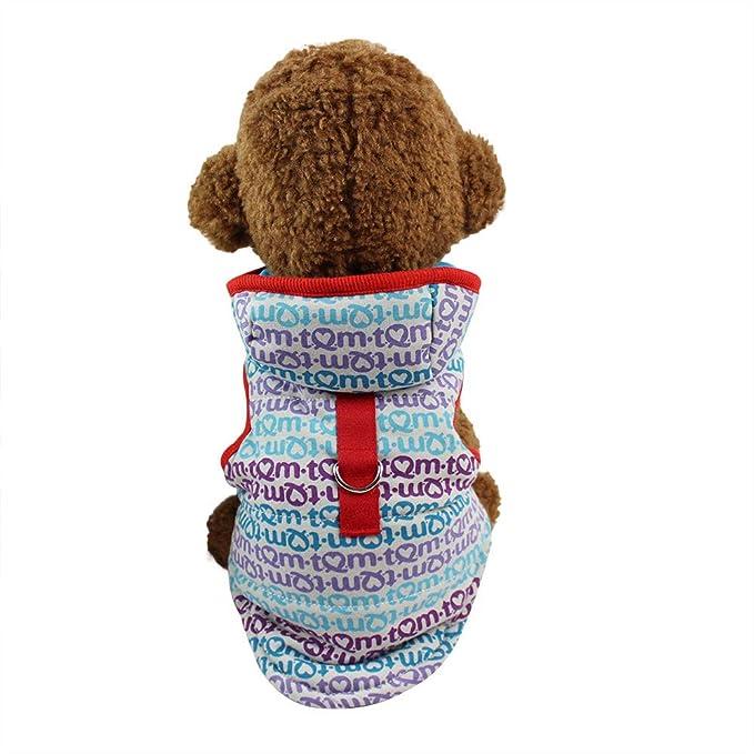 Ropa para Mascotas,Dragon868 Cute Hoodies Gruesa Chaqueta Caliente Chaleco pequeños Perros Medios: Amazon.es: Ropa y accesorios