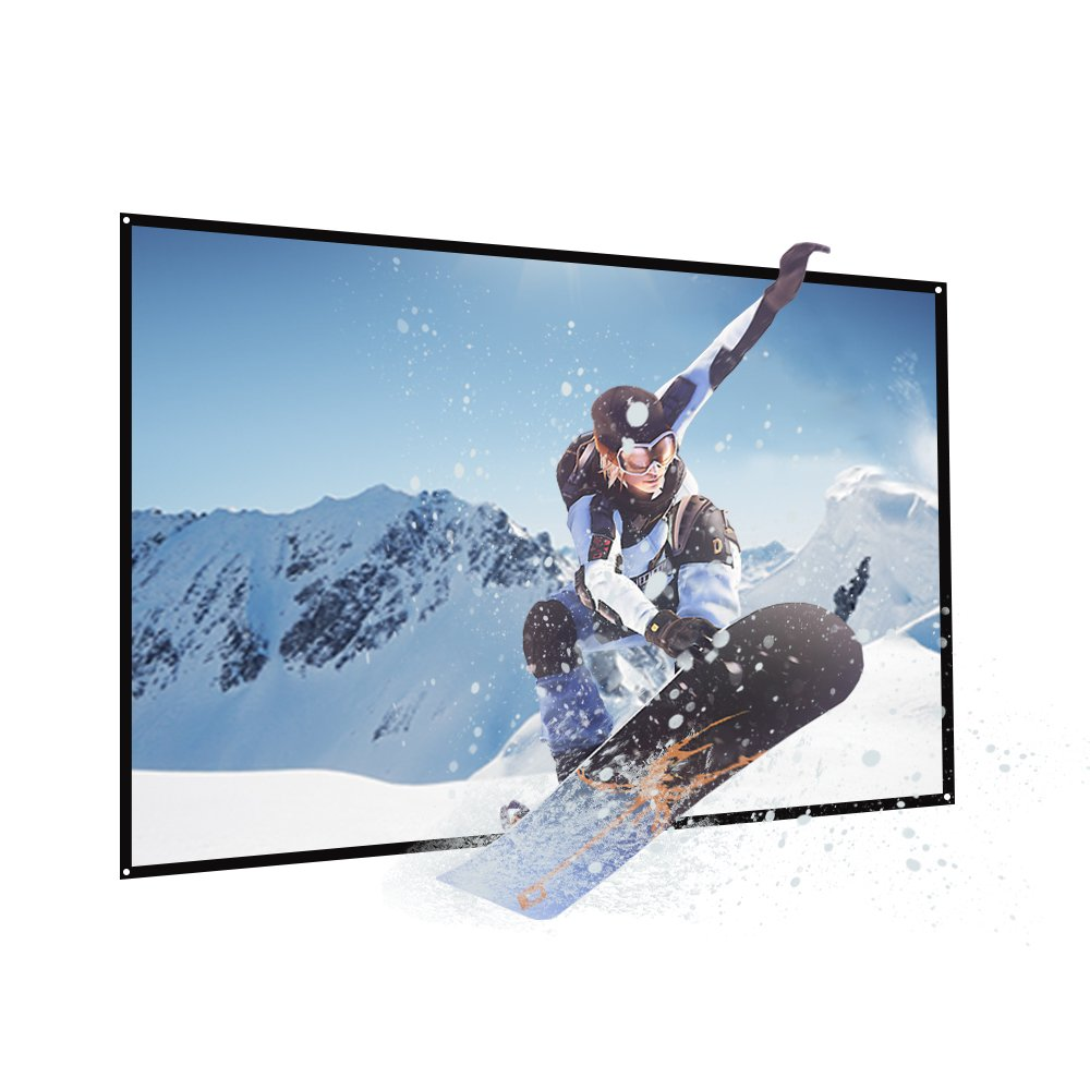 """60-inch (29x51"""") Medium Screen Projector Screen Home Theater/Cinema or Presentation Platform - 16:9 Aspect Ratio Projection Screen - Suitable for HDTV/Sports/Movies/Presentations AUN S60"""