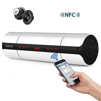 Portátil KR8800 NFC FM HIFI altavoz Bluetooth estéreo inalámbricos altavoces caja de sonido Super Bass Caixa se som mano libre para Phone-White color: ...