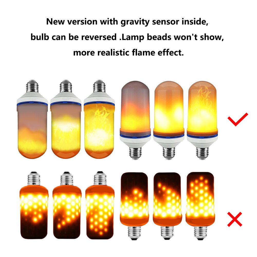 Pemenol Upside Down Fire Flame Light Bulbs Led Flickering This Is Not So For A Parallel Circuit Can Continually Be Added Effect Bulb E26 Decorative Lighting Indoor And Outdoor Bar Home Backyard