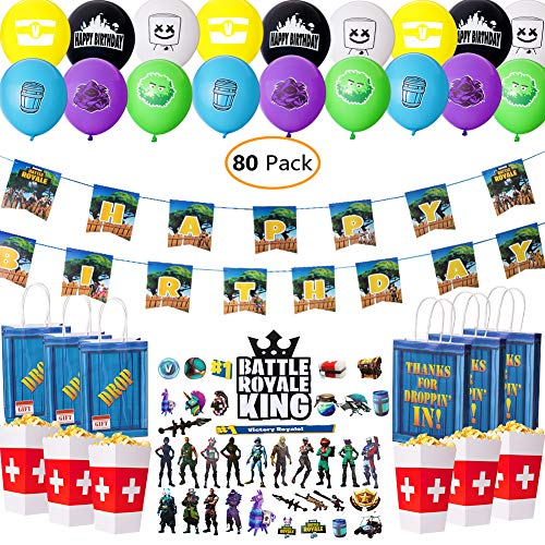 DMight Birthday Party Supplies for Game Fans, 80 Pcs, used for sale  Delivered anywhere in USA