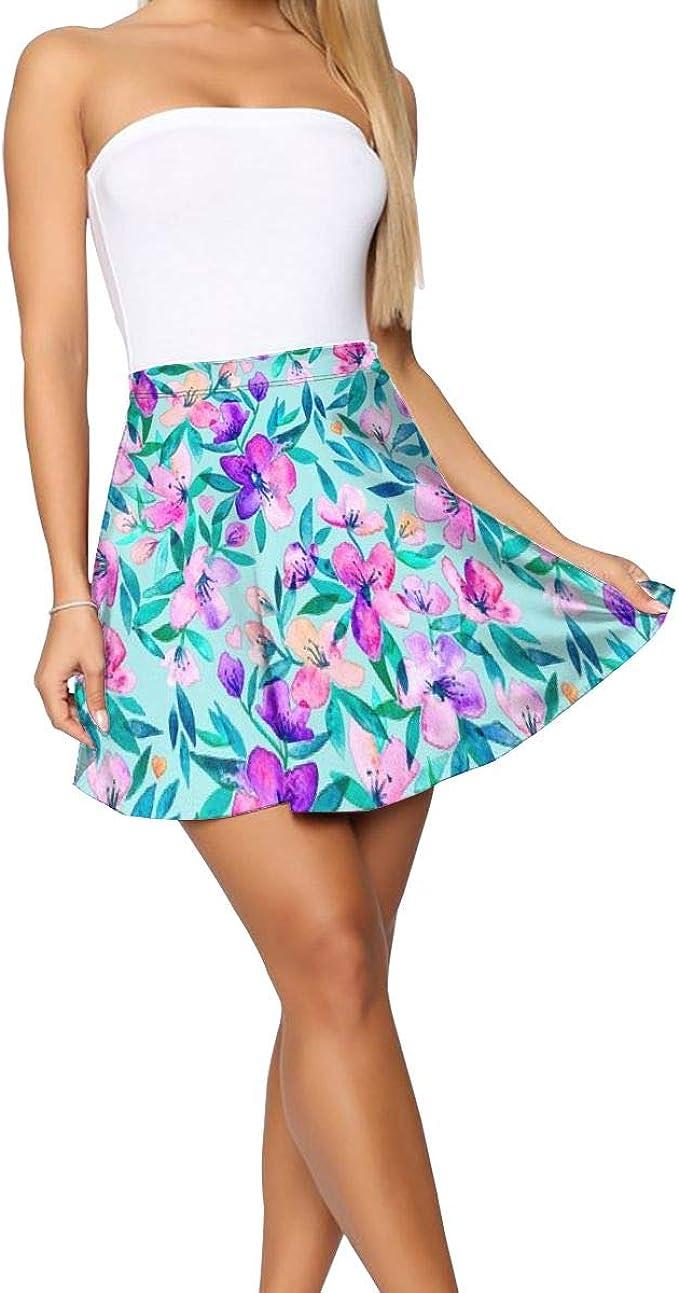 Falda Corta Mujer Verano 2019, Tiffany Azul y púrpura Primavera ...