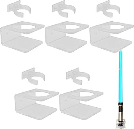 Hardware Included. YYST Clear Light saber Wall Mount Wall Rack Wall Holder