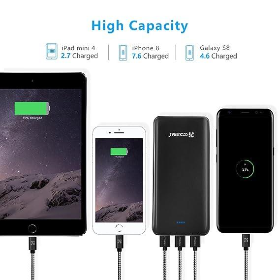 Powerbank 20000mAh,Coolreall 3 USB Ports Externer Akku: Amazon.de ...