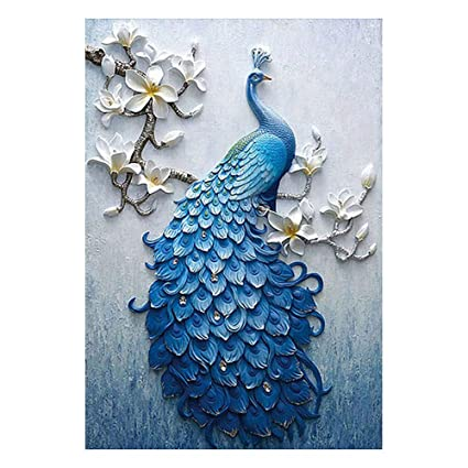 5d Diy Diamond Painting Cross Stitch Embroidery Mosaic Peacock Picture Home Decor Needlework Best Price Home & Garden