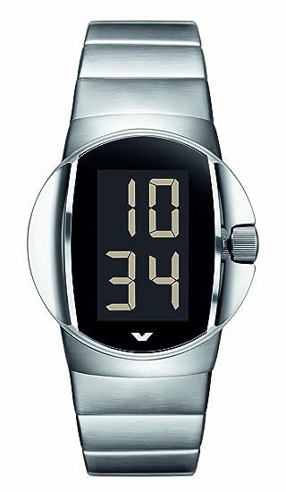 Ventura W12S - Reloj digital automático para hombre, correa de acero inoxidable color plateado: Amazon.es: Relojes
