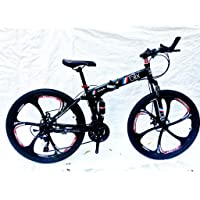 Amardeep Cycles Blix 26 T 21 Speed Double Disc Brake Sports Folding Mountain Cycle with Magnesium Alloy Wheels (1 Year Frame Warranty)