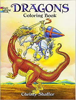 dragons coloring book dover coloring books christy shaffer 9780486420578 amazoncom books - Dover Coloring Book