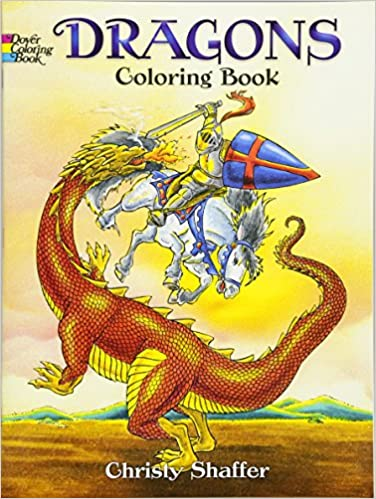Dragons Coloring Book Dover Books Christy Shaffer 0800759420575 Amazon