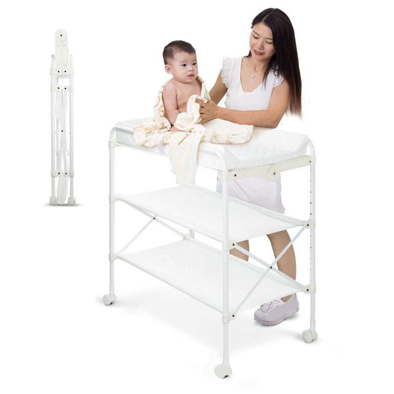 折りたたみ身長低赤ちゃんのおむつテーブルバスケアテーブルベビーマッサージタッチドレッシング仕上げテーブル   B07MC436SQ