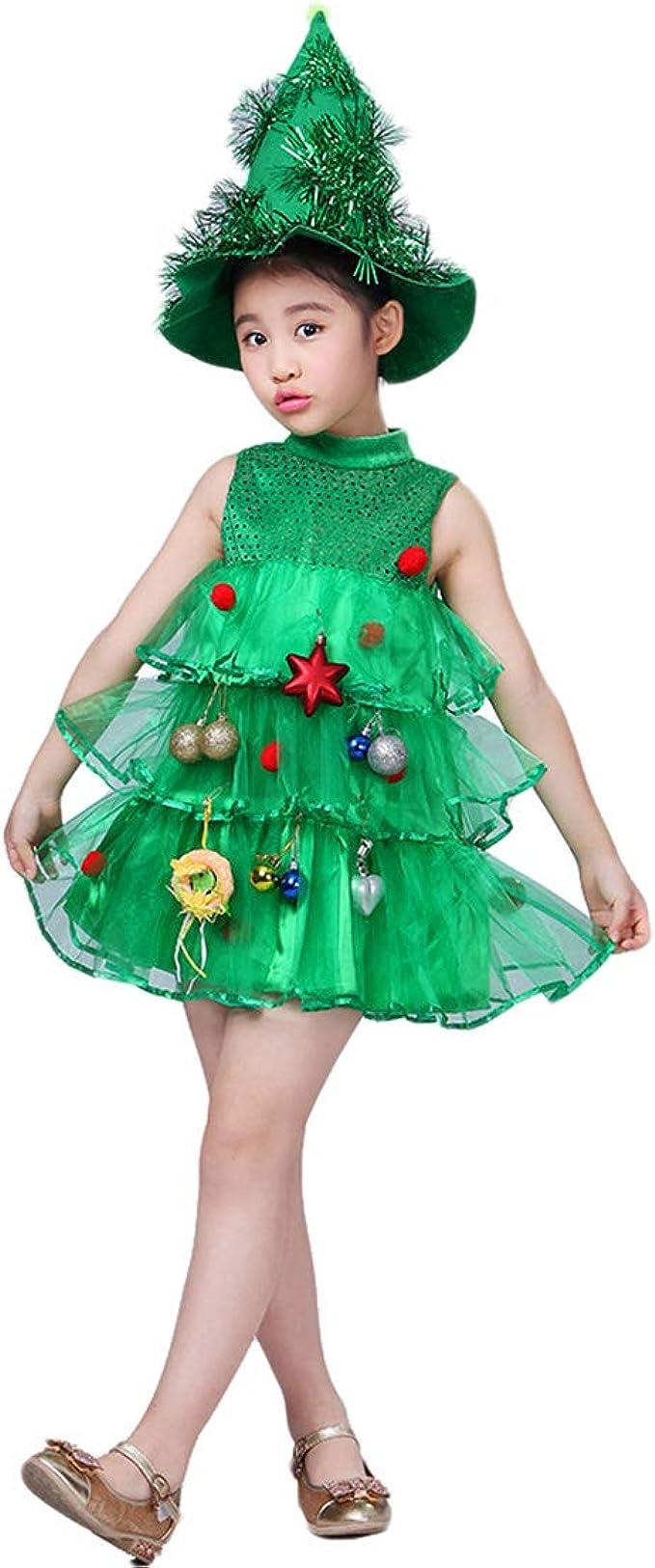 Disfraz Árbol de Navidad para Niños Vestidos de Navidad de ...