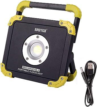 Foco LED Proyector Portátiles, Foco de Obra recargable super ...