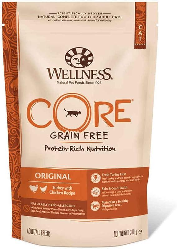Wellness CORE - Comida para Gatos (Gato sin Grano seco, 300 g)