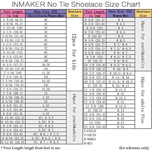 INMAKER No Tie Shoelaces, Pack of 2, Elastic Shoe Laces for Kids and Adults