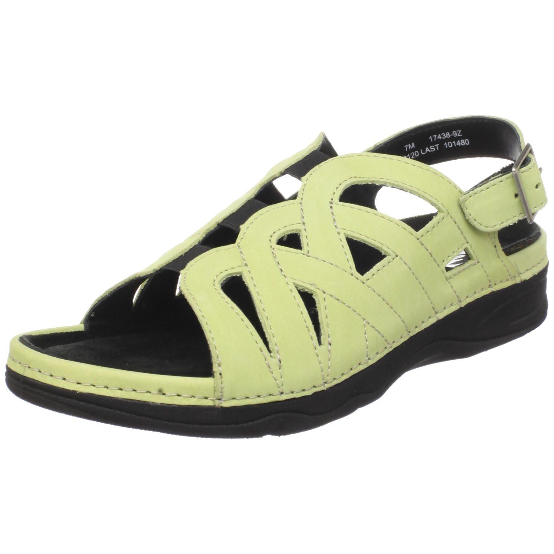 Drew Shoe Women's Sandy Sandal B003YUM41G 10.5 B(M) US|Green Nubuck