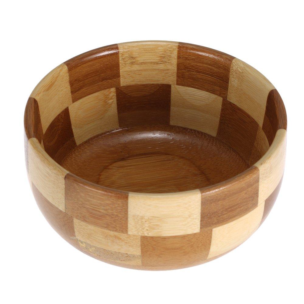 Anself Men's Shaving Bowl Shaving Mug Cup Barber Bowl Face Cleaning Tool for Shaving Brush (Brown) W4059-A0OPWE