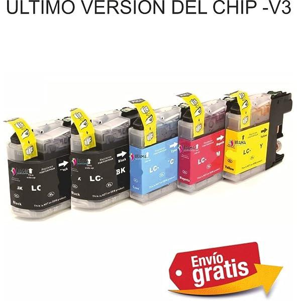 Bramacartuchos - 5 x Cartuchos compatibles para Brother Lc121 ...