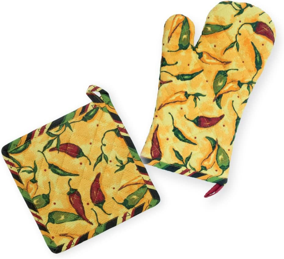 Celebrate the Home Mitt and Potholder, Pepper Toss Oven Mitt & Pot Holder Set