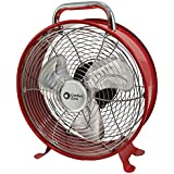 Comfort Zone 12 Decorative Metal Drum Fan, 4 pack, Assorted Colors - Lot of 4