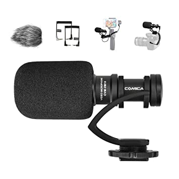 comica CVM-VM10II Microfono Video, Mini Micrófono Camara Reflex ...