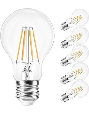LVWIT Bombillas de Filamento LED E27 (Casquillo Gordo) - 4W/ 8W, Color