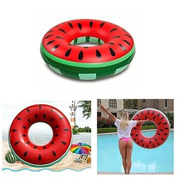 Hinchable sandía piña flotador flotadores de fiesta en la piscina natación anillos, mujer hombre,