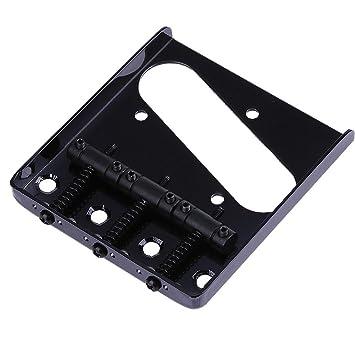 Broadroot Metal three-stringed Retro sillines puente de accesorios para guitarra eléctrica, negro: Amazon.es: Instrumentos musicales