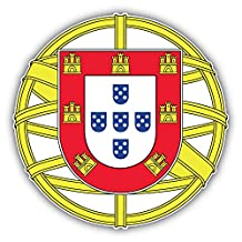 Portugal Coat Of Arms Art Decor Bumper Sticker 5'' x 5''