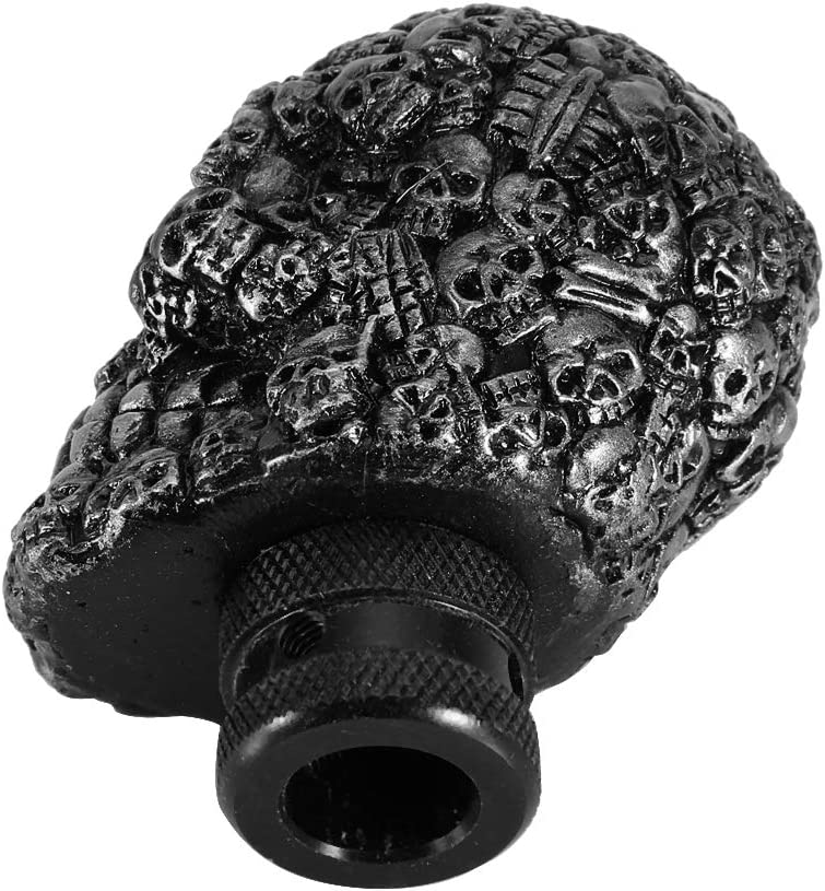 Fydun Gear Shift Knob Skeleton Skull Car Modified Manual Gear Shift Knob Stick Lever Shifter Universal Shift Knob Cover Handbrake Grip Interior Decor