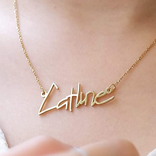 5c1b39751 Image Unavailable. Image not available for. Color: Graceful Rings Gix  Minimalist Custom Name Necklaces ...