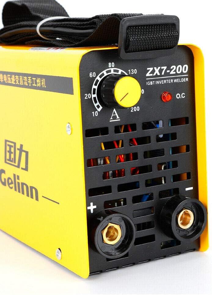 BTdahong 220 V M/áquina de soldadura profesional Inverter soldadora IGBT ZX7-200 tubo /único 200 A port/átil soldador el/éctrico Welder Kit eficiente f/ácil