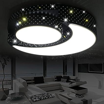 LXSEHN Cuarto De Niños LED Cuarto Estrella Lunar Lámpara De ...