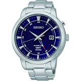 Seiko - SUN031P1 - Automatic - Men's Watch - Automatic Analogue - Blue Dial - Grey Steel Bracelet