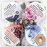 nügg Face Mask Glow Kit for Clean, Radiant and Dewy Skin; Pack of 4 Face Mask Pods to Detox, Exfoliate, Hydrate and Revitalize Skin; Perfect Face Treat or Beauty Gift Set (4 x 0.33fl.oz.)