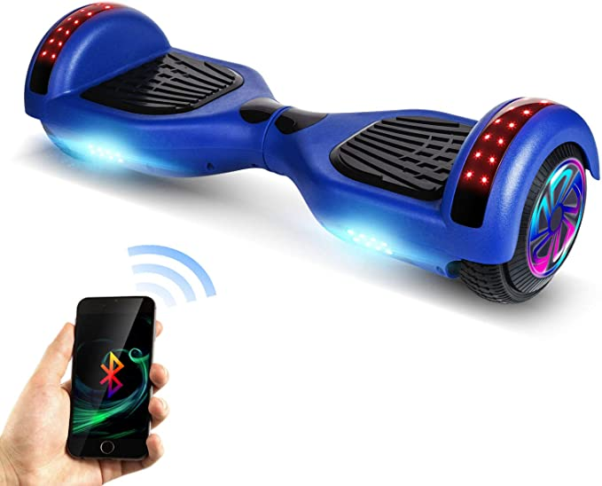 Benedi Hoverboard Two-Wheel 6.5 Hover Board UL2272 Certified with Bluetooth Speaker and LED LightsSelf Balancing Scooter