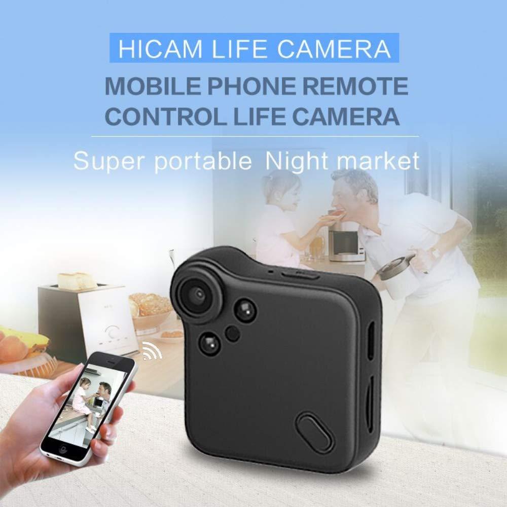TIAN WiFi Mini Ocultos Espía Wireless Cámara IP 1080P HD Cámara De Vigilancia De Seguridad con Visión Nocturna, Detección De Movimiento para iPhone/Android ...