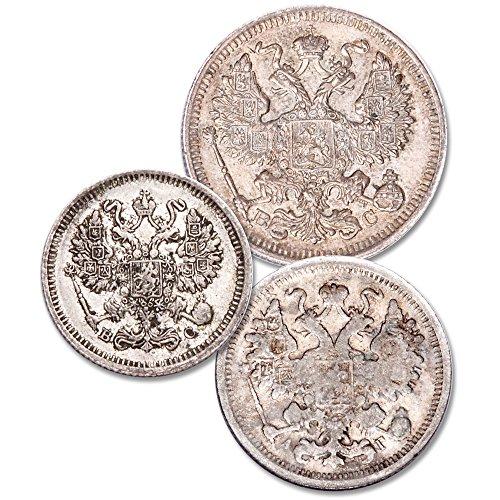 (Historic Russian Silver Coin Set)